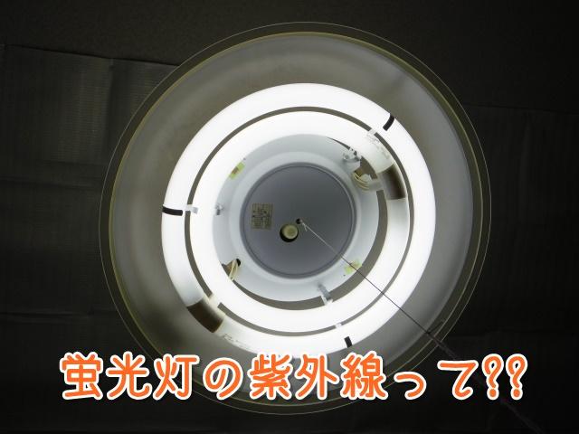 蛍光灯の紫外線