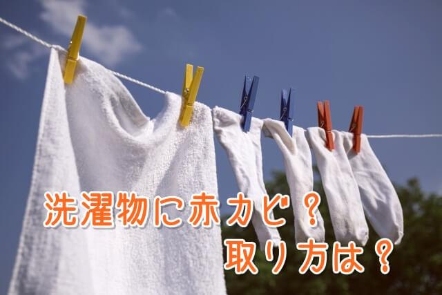 洗濯物に赤カビ?取り方は?