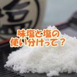 味塩と塩の使い分けって?