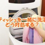 ティッシュを一緒に洗濯 どう対処する?